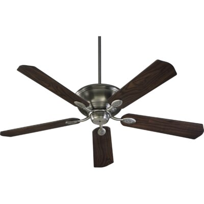 60 Kingsley 5-Blade Ceiling Fan Finish: Antique Silver with Pecan Blades
