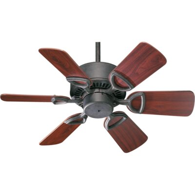 30 Estate 6-Blade Ceiling Fan Finish: Toasted Sienna with Walnut Blades