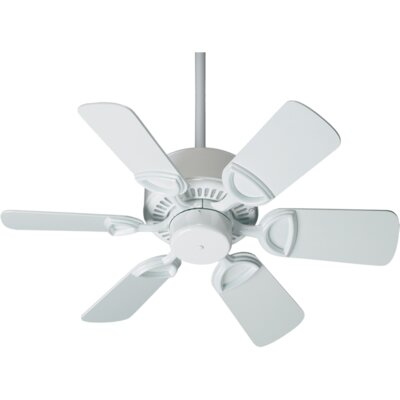 30 Estate 6-Blade Ceiling Fan Finish: White