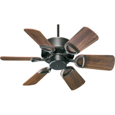 30 Estate 6-Blade Ceiling Fan Finish: Old World with Rosewood/Walnut Blades