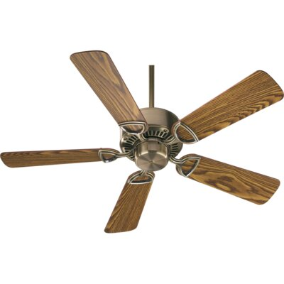 42 Estate 5-Blade Ceiling Fan Finish: Antique Brass with Dark Oak/Medium Oak Blades