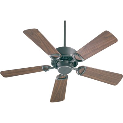 42 Estate 5-Blade Ceiling Fan Finish: Old World with Rosewood/Walnut Blades