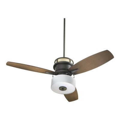 54 Bristol 3-Blade Ceiling Fan Finish: Oiled Bronze With Walnut Blades