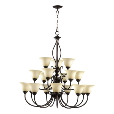 Spencer 18-Light Shaded Chandelier Finish: Toasted Sienna