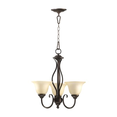 Spencer 3-Light Shaded Chandelier Finish: Toasted Sienna