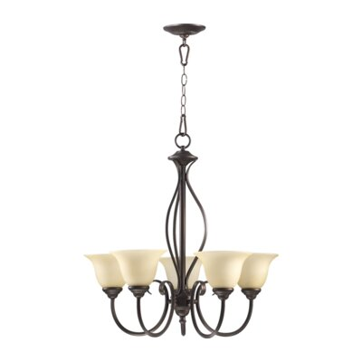 Spencer 5-Light Shaded Chandelier Finish: Mystic Silver