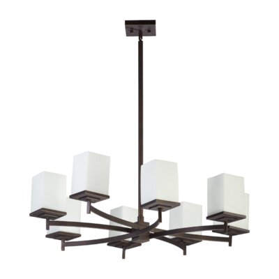 Delta 8-Light Shaded Chandelier Finish: Oiled Bronze