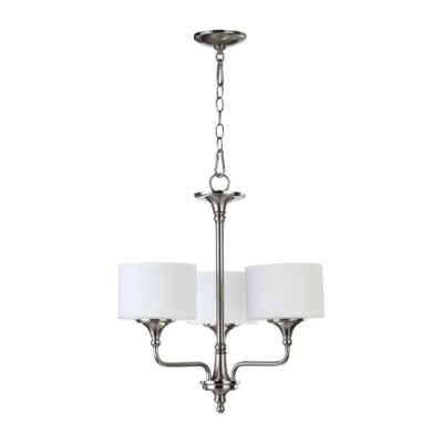 Rockwood 3-Light Drum Chandelier Finish: Satin Nickel