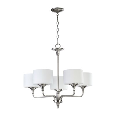 Rockwood 5-Light Shaded Chandelier Finish: Satin Nickel