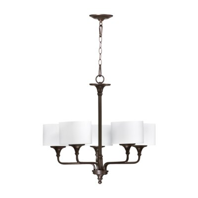 Rockwood 5-Light Shaded Chandelier Finish: Oiled Bronze
