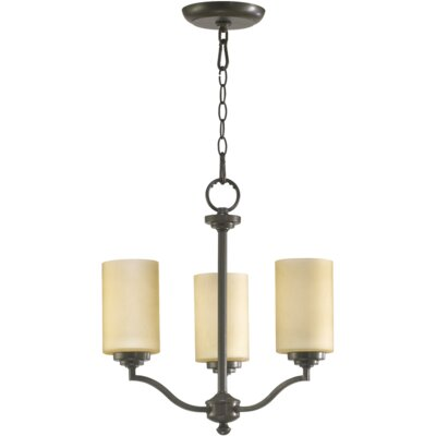 Atwood 3-Light Shaded Chandelier Shade Color: Amber Scavo