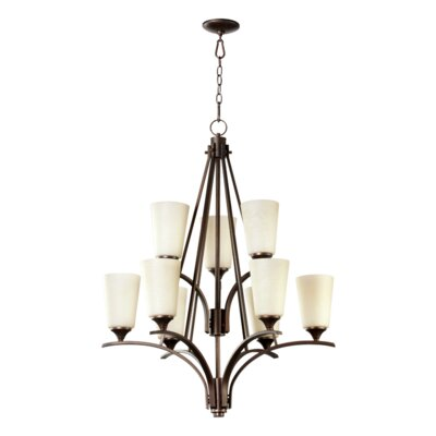 Winslet 6-Light Shaded Chandelier Shade: Linen Glass