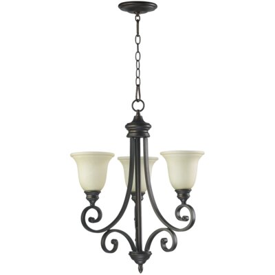 Bryant 3-Light Shaded Chandelier Finish: Oiled Bronze