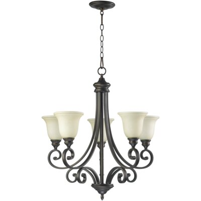Bryant 5-Light Shaded Chandelier Finish: Classic Nickel