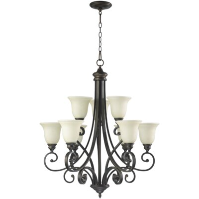 Bryant 9-Light Shaded Chandelier Finish: Oiled Bronze