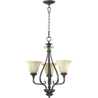 Randolph 3-Light Shaded Chandelier Finish: Oiled Bronze