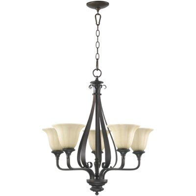 Randolph 5-Light Shaded Chandelier Finish: Oiled Bronze