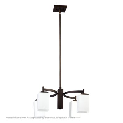 Delta 4-Light Shaded Chandelier Finish: Oiled Bronze