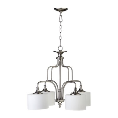 Rockwood 4-Light Shaded Chandelier Finish: Satin Nickel