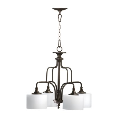 Rockwood 4-Light Shaded Chandelier Finish: Oiled Bronze