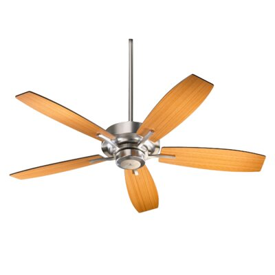 52 SOHO 5-Blade Ceiling Fan Finish: Satin Nickel with Teak Blades