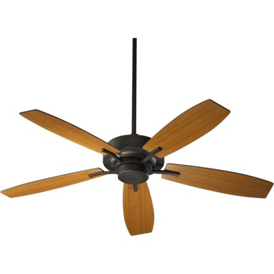 52 SOHO 5-Blade Ceiling Fan Finish: Oiled Bronze with Teak Blades