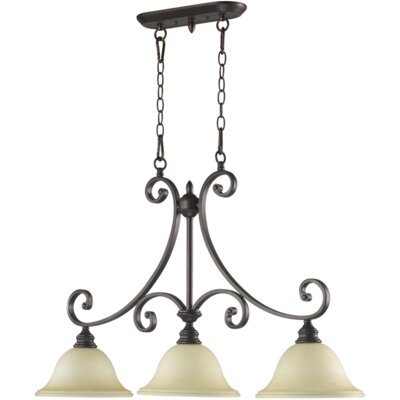 Asher 3-Light Kitchen Island Pendant Finish: Oiled Bronze