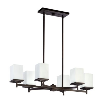 Delta 6-Light Kitchen Island Pendant Finish: Oiled Bronze