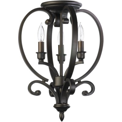 Asheville 3-Light Foyer Pendant Finish: Oiled Bronze