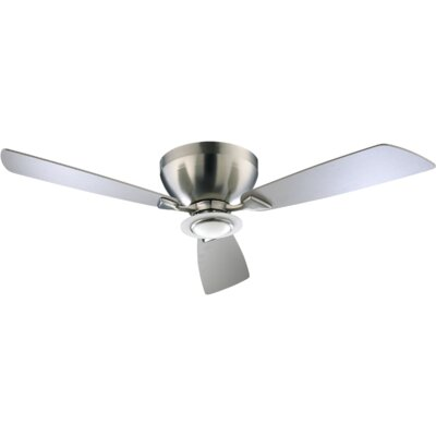 52 Nikko 3-Blade Ceiling Fan Finish: Satin Nickel with Satin Nickel Blades