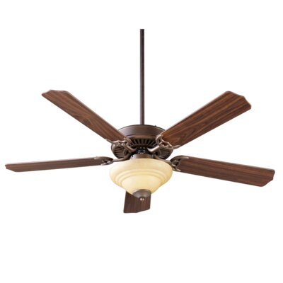 52 Dunrobin 5-Blade Ceiling Fan Finish: Oiled Bronze with Walnut Blades