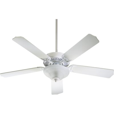 52 Dunrobin Traditional 5-Blade Ceiling Fan Finish: White