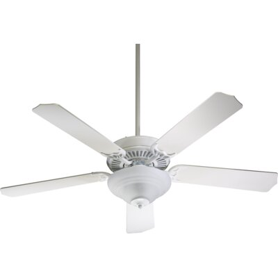 52 Dunrobin Traditional 5-Blade Ceiling Fan Finish: Studio White with White Blades