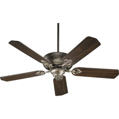 52 Chateaux 5-Blade Ceiling Fan Finish: Mystic Silver with Walnut Blades