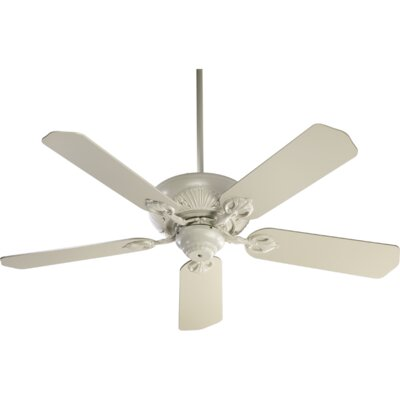 52 Chateaux 5-Blade Ceiling Fan Finish: Antique White with Washed Oak Blades