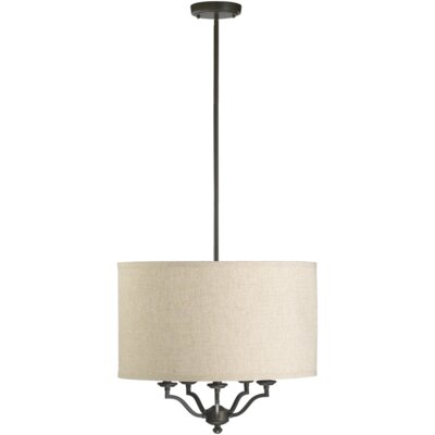 Atwood 5-Light Drum Pendant Shade Color: Cream