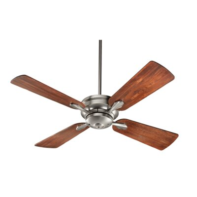 52 Valor 4-Blade Ceiling Fan Finish: Satin Nickel with Distressed Walnut Blades