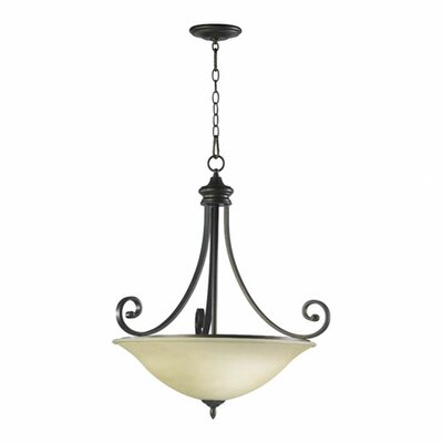 Asheville 4-Light Inverted Pendant Finish: Oiled Bronze