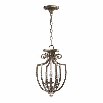 Summerset 3-Light Foyer Pendant Finish: Toasted Sienna