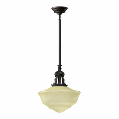 1-Light Schoolhouse Inverted Pendant Finish: Oiled Bronze