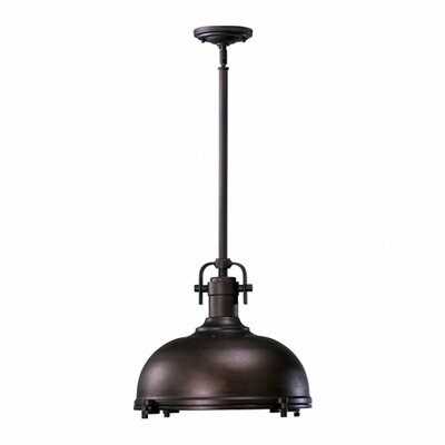 Quorum 1-Light Bowl Pendant Finish: Oiled Bronze