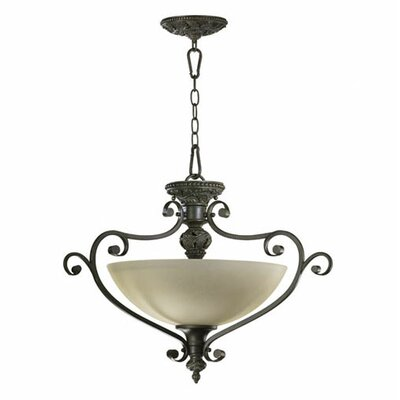 Fulton 3-Light Dual Mount Inverted Pendant