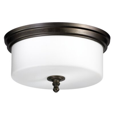 Heyworth 3-Light Flush Mount Finish: Oiled Bronze
