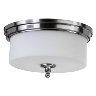 Heyworth 3-Light Flush Mount Finish: Satin Nickel
