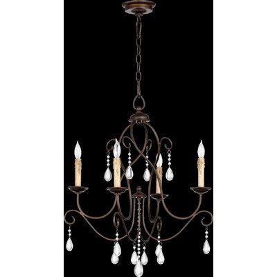 Cilia 4-Light Candle-Style Chandelier Finish: Oiled Bronze