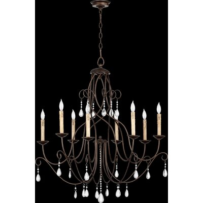 Cilia 8-Light Candle-Style Chandelier Finish: Oiled Bronze