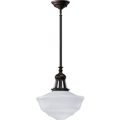 1-Light Schoolhouse Inverted Pendant