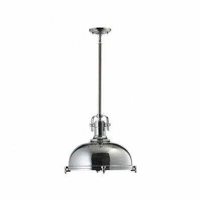 Lighthouse Point 1-Light Bowl Pendant Color: Chrome