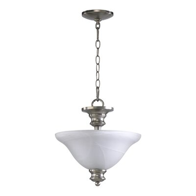 Madison 3-Light Convertible Inverted Pendant Finish: Satin Nickel