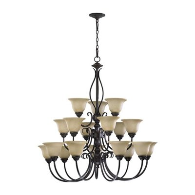 Spencer 18-Light Shaded Chandelier Finish: Mystic Silver
